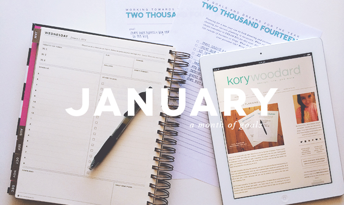 monthly goals / january