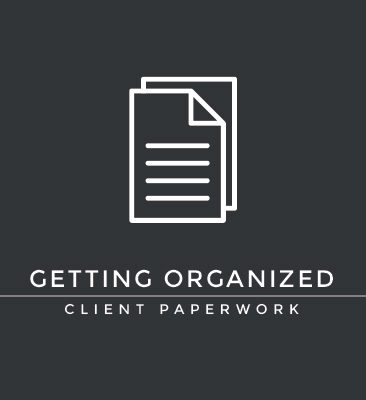 getting organized | paperwork