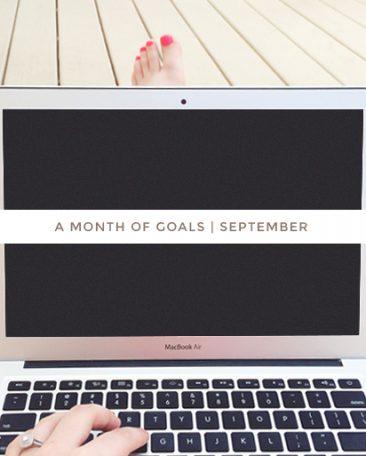 a month of goals | september
