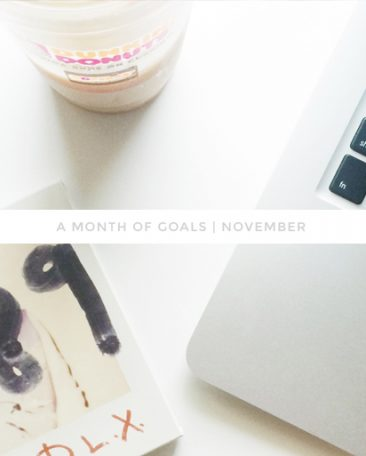 a month of goals : november | with kory woodard