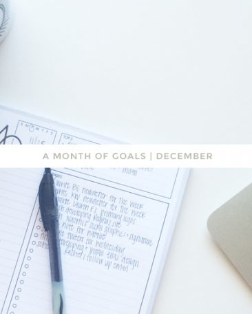 a month of goals : december | with kory woodard