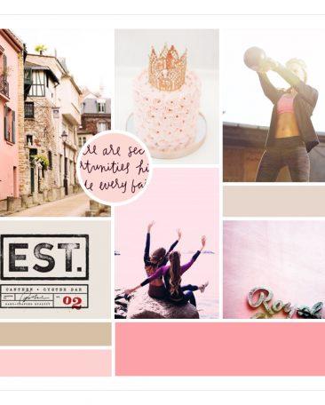 vintage + pink moodboard | by kory woodard
