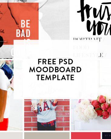free / moodboard template