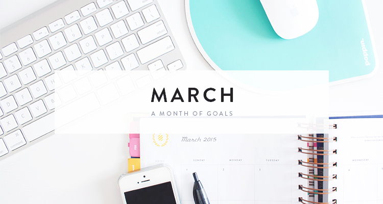 monthly goals / march