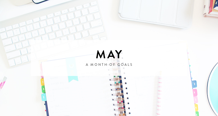 monthly goals / may