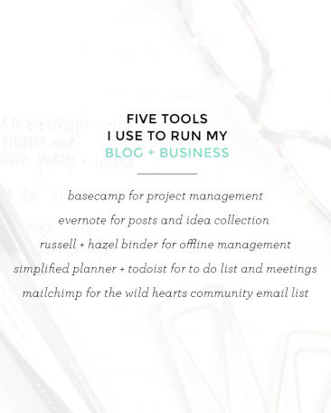 5 tools I use to run my blog + business