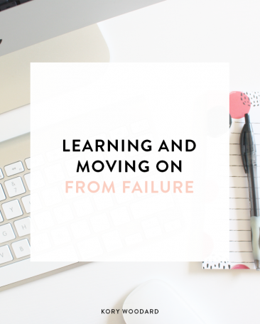 learning and moving on from a failure