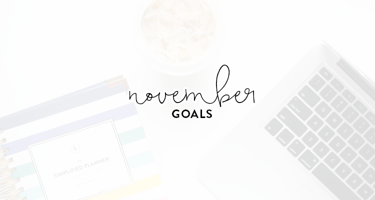 monthly goals / november