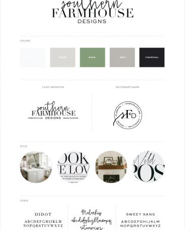 Southern Farmhouse Designs | branding + website design by Kory Woodard