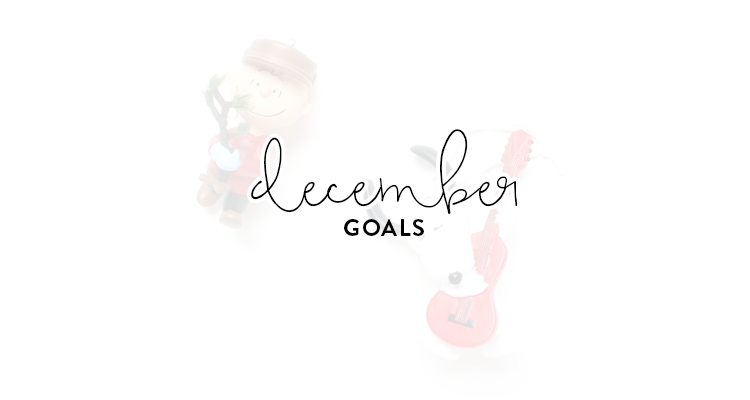 monthly goals / december