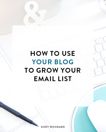 Most people think that the only way to get people on your list through your blog are to a) write super valuable content and b) make sure you have a sign up form in your sidebar. However, I have few more ways you can use that blog of yours to start seeing growth with your email list this year!