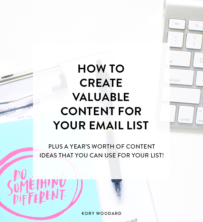 Since I've been working with people to create stellar email lists for their brands, one of the main things I've noticed people struggle with is their content. Click through for a few great tips for you today on how to come up with that exclusive, valuable content that you can start sending to your list right away.