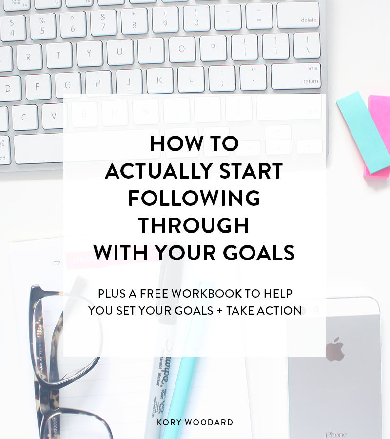 Setting goals is one thing, but actually following through with them can be a little more difficult. Here's how you can make sure you're taking action!