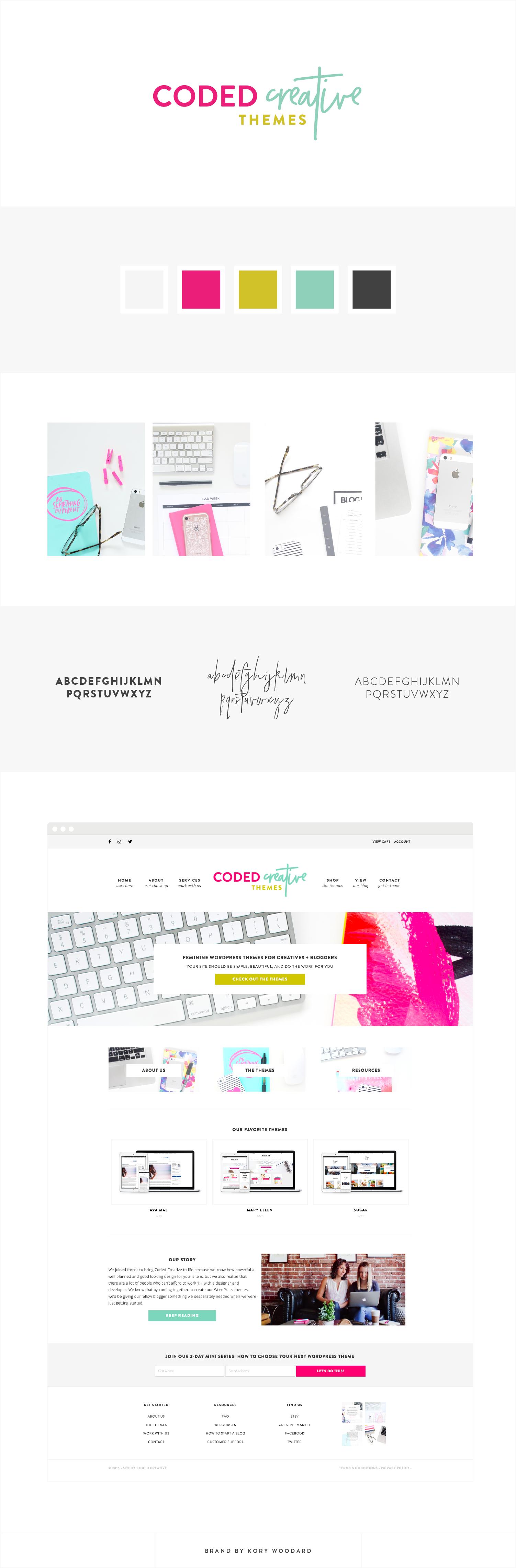 Coded Creative - Branding + Website Design by Kory Woodard