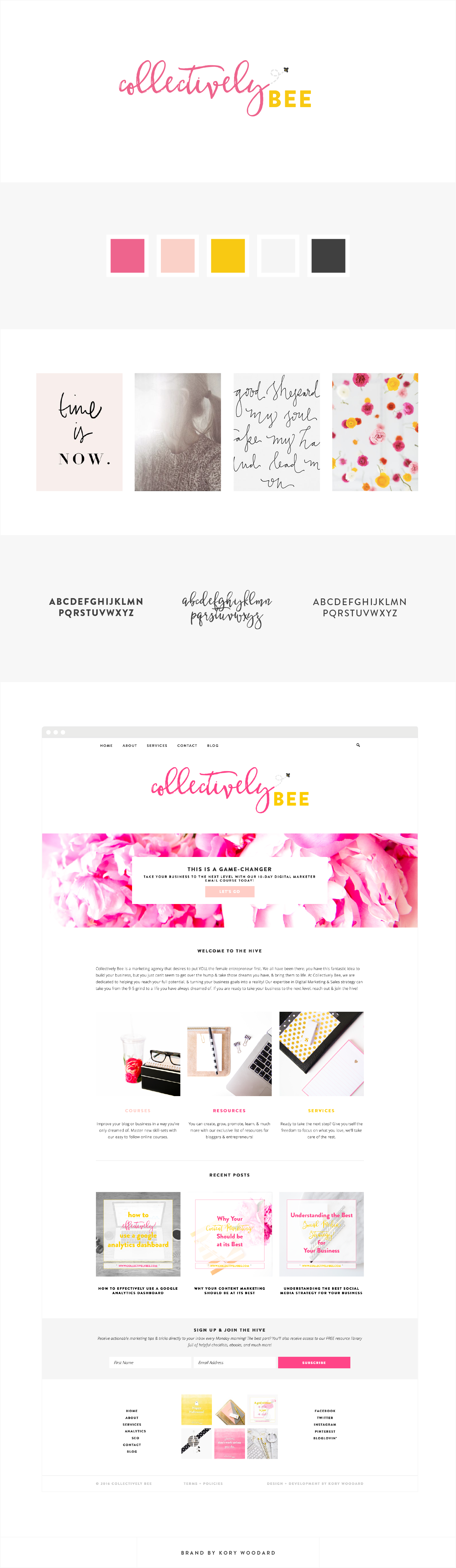 Collectively Bee - Branding + Blog Design by Kory Woodard