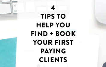 Whether you're struggling to make your first $1k month or just starting your business, here are 5 tips that will help you find + book your first (or more) paying clients!