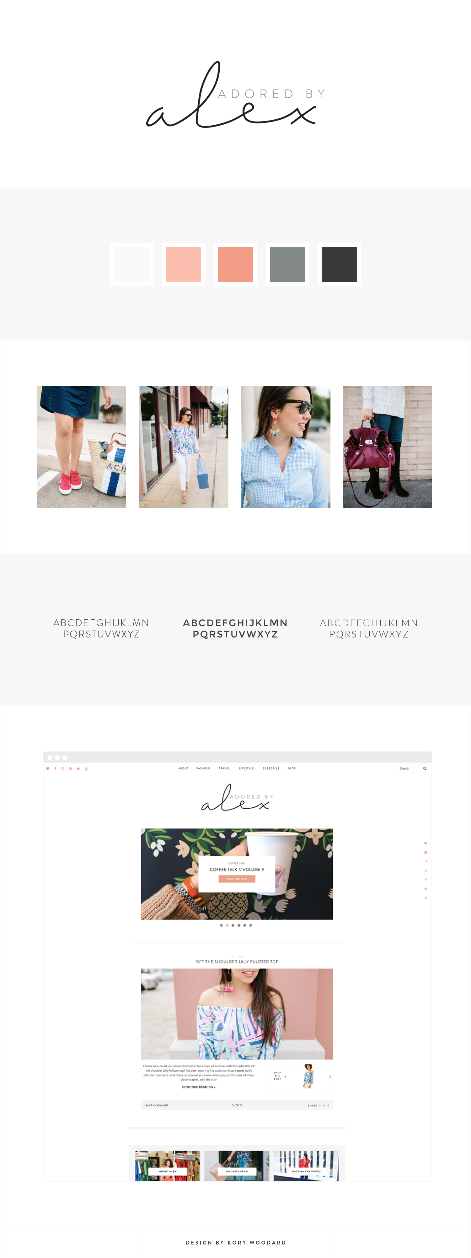 Adored By Alex | Branding + Blog Design by Kory Woodard