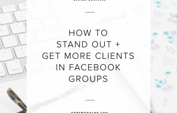 Unfortunately, it's gotten harder for service-based business owners to book clients, especially for designers. Since I've been lucky enough to book my fair share of clients straight from a handful of groups, I wanted to share some of my tips to help you do the same thing.