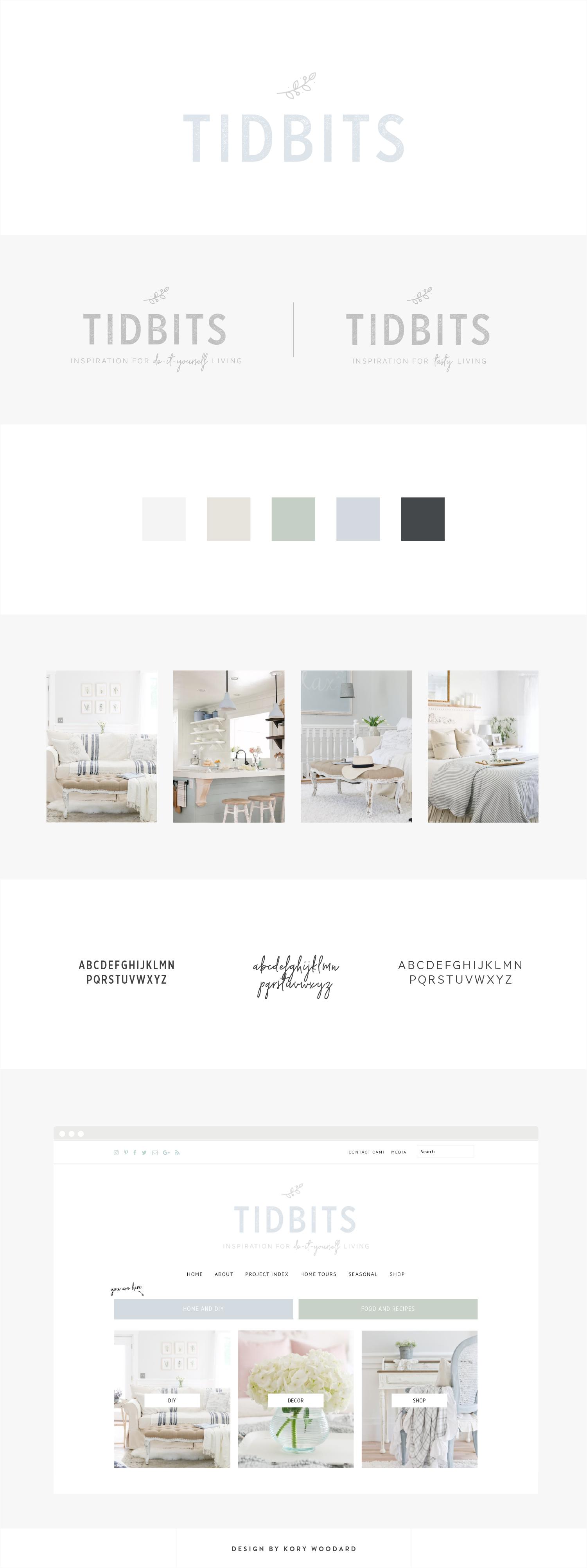 Tidbits | Branding + Blog Design by Kory Woodard