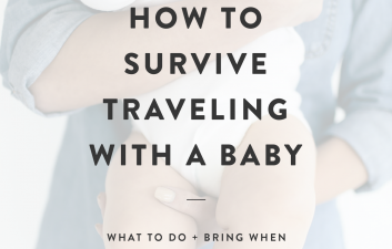 Planning your first road trip with your little one? Here are a few tips from this non-expert mama after four 10+ hour car rides with a baby!